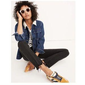 Madewell Cali demi-boot chewed-hem jeans